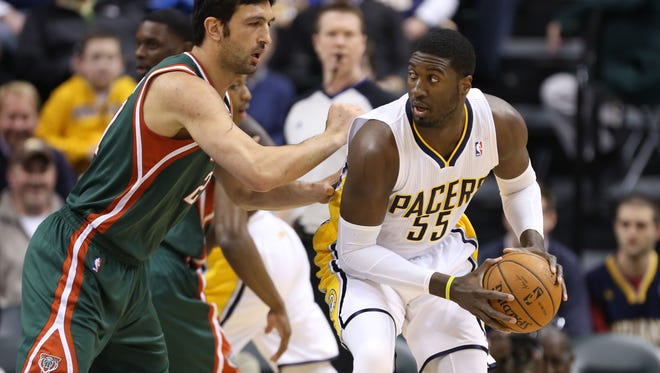 Roy Hibbert had 24 points and 12 rebounds for the Pacers.