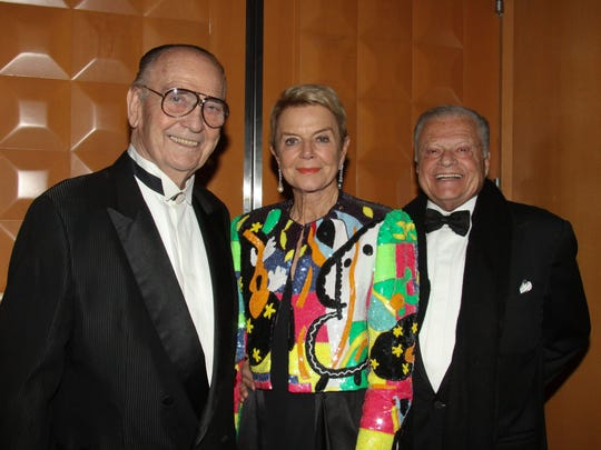 Gala benefactors (left to right): James Houston, Donna MacMillan and Harold Matzner.