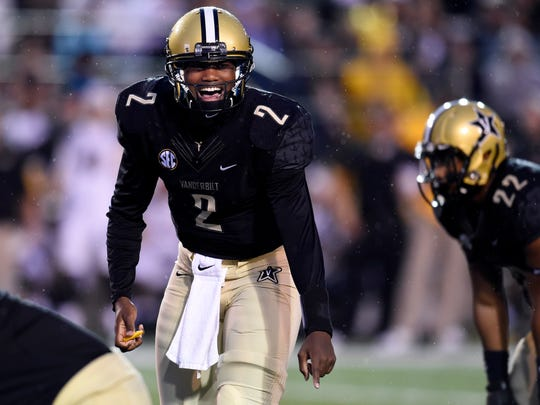 Vanderbilt quarterback Johnny McCrary (2) started 11
