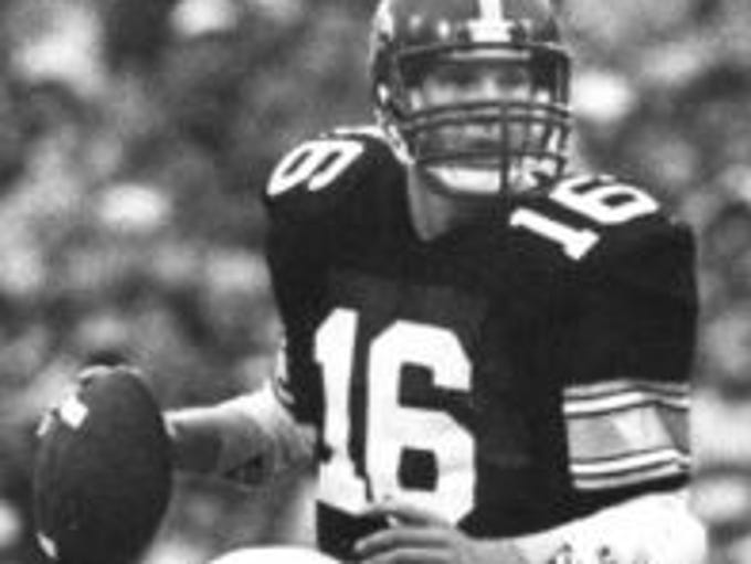 Former Iowa Hawkeyes quarterback Chuck Long was inducted