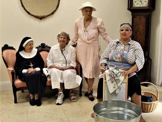 From left, Marion Nicolay as Deaconess Bedell, Eveyln Case as Nurse Hazel, Betsy Peridchizzi as Tommie Barfield and Cindi Kramer as Molly Hamilton.