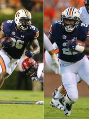 Kamryn Pettway (36) and Kerryon Johnson (21) combined