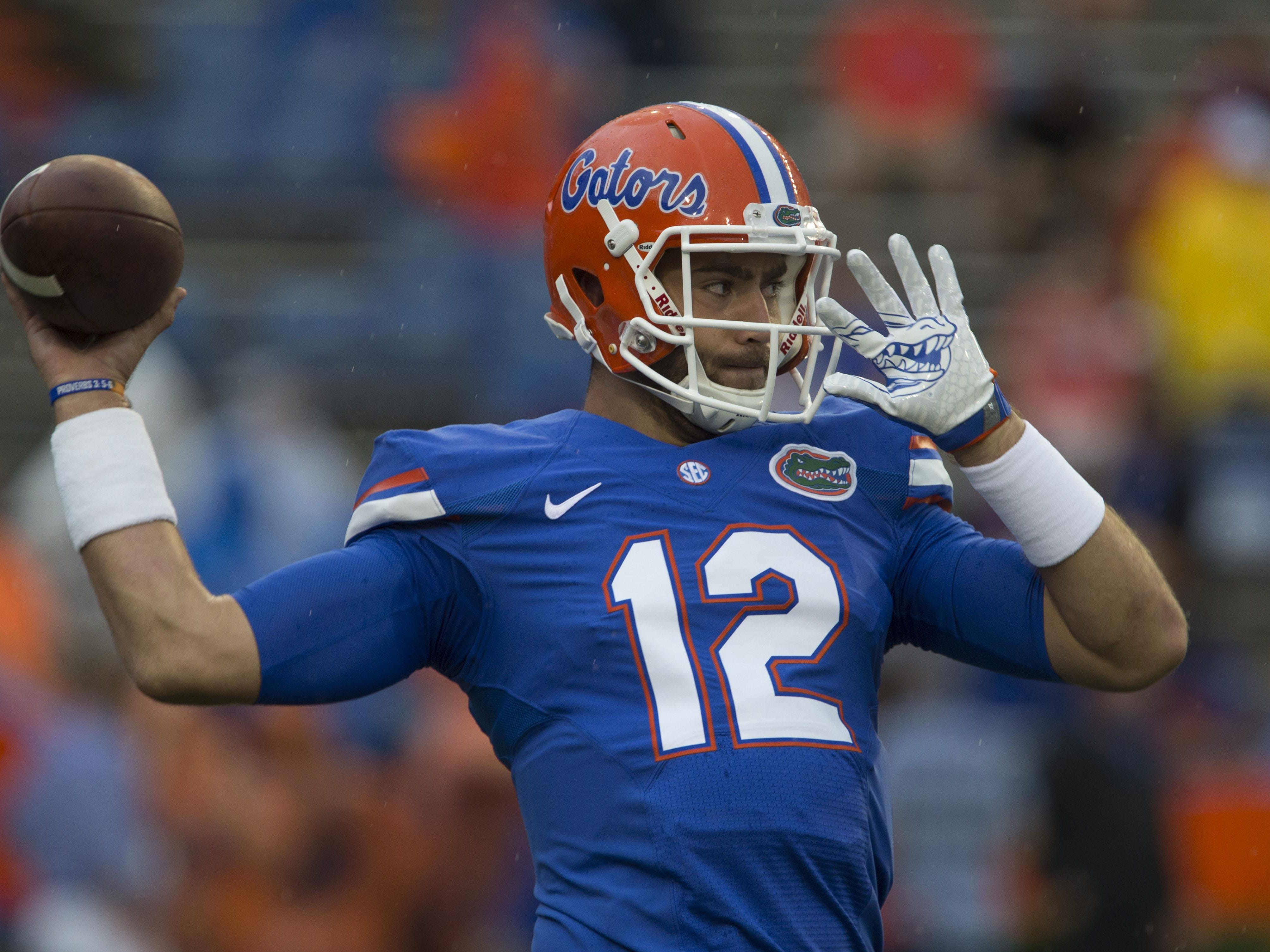 Florida quarterback Austin Appleby, seen before the Gators' game against UMass on Sept. 3, will start Saturday against Tennessee after Luke Del Rio injured his left knee against North Texas.