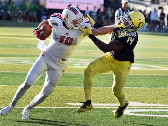 Wide receiver Cooper Kupp (246 yards) and Eastern Washington racked up 438 passing yards against Oregon.