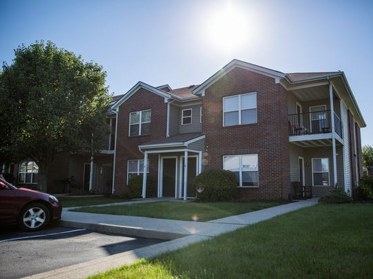 The apartment building of suspected Islamic State sympathizer, Akram Musleh, 18, in Brownsburg, Indiana.