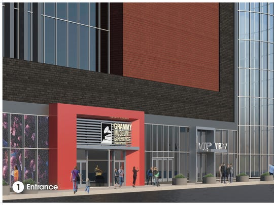 The Grammy Museum Experience Prudential Center, seen in a rendering, is scheduled to open this fall in Newark.