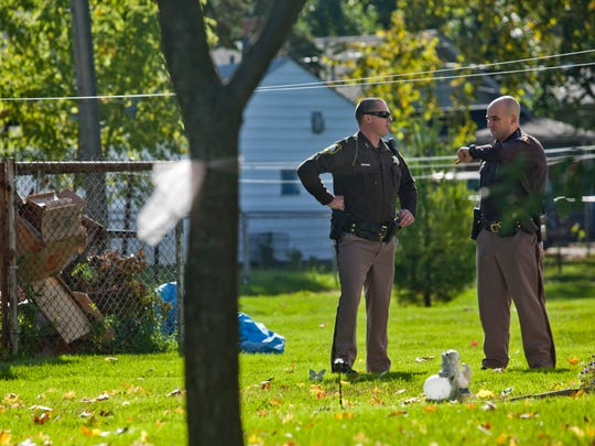 St. Clair County Sheriff's Deputies investigate a stabbing Wednesday October 8 at 701 St. Paul Street in Marysville. A male victim was taken to an area hospital with non-life threatening injuries, and a second male was taken into custody.