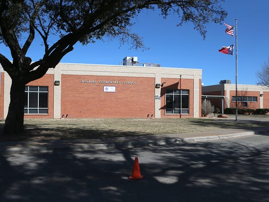 Fort Concho Elementary stands to gain a control entry way to its main building, ADA upgrades to existing restrooms plus security fencing, if a $149 million bond is passed in May. Photo shot Monday, Feb. 12, 2018.