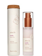 "Amala Beauty offers delicious ""food"" like Desert Fig Soothing Moisture Cream and Lip Salve."