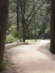 The soft surface trail is an easy walk for most visitors.