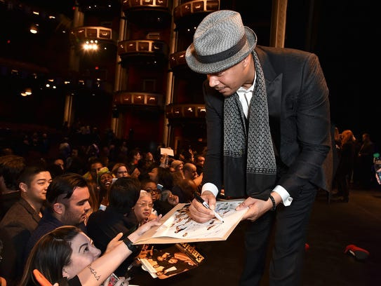 'Empire' star Terrence Howard meets fans after a PaleyFest