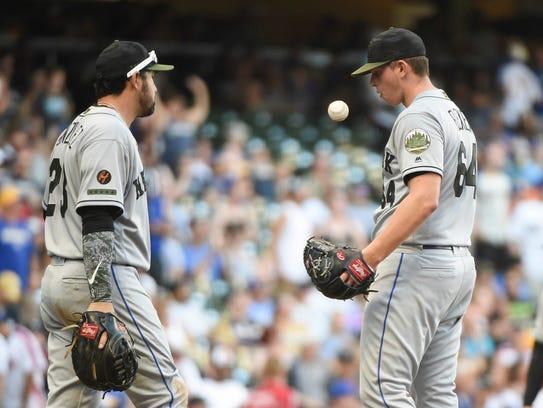 May 26, 2018; Milwaukee, WI, USA; New York Mets pitcher