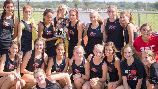The Parkway girls won last year's inaugural Ark-La-Tex Border Dash cross country meet last year.