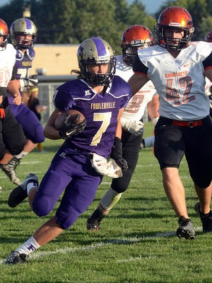 Fowlerville's Braden Shrader and his teammates couldn't keep up with Portland on Friday night.