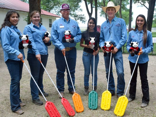 New Mexico Youth Ranch Management Camp 2018 winning team, from left,  Julianna Williams, McKenzie Evans, Miguel Chavez, Gabriela Baca, Matt Major and Myra Marquez.