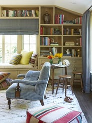 This child-friendly family room offers closed storage
