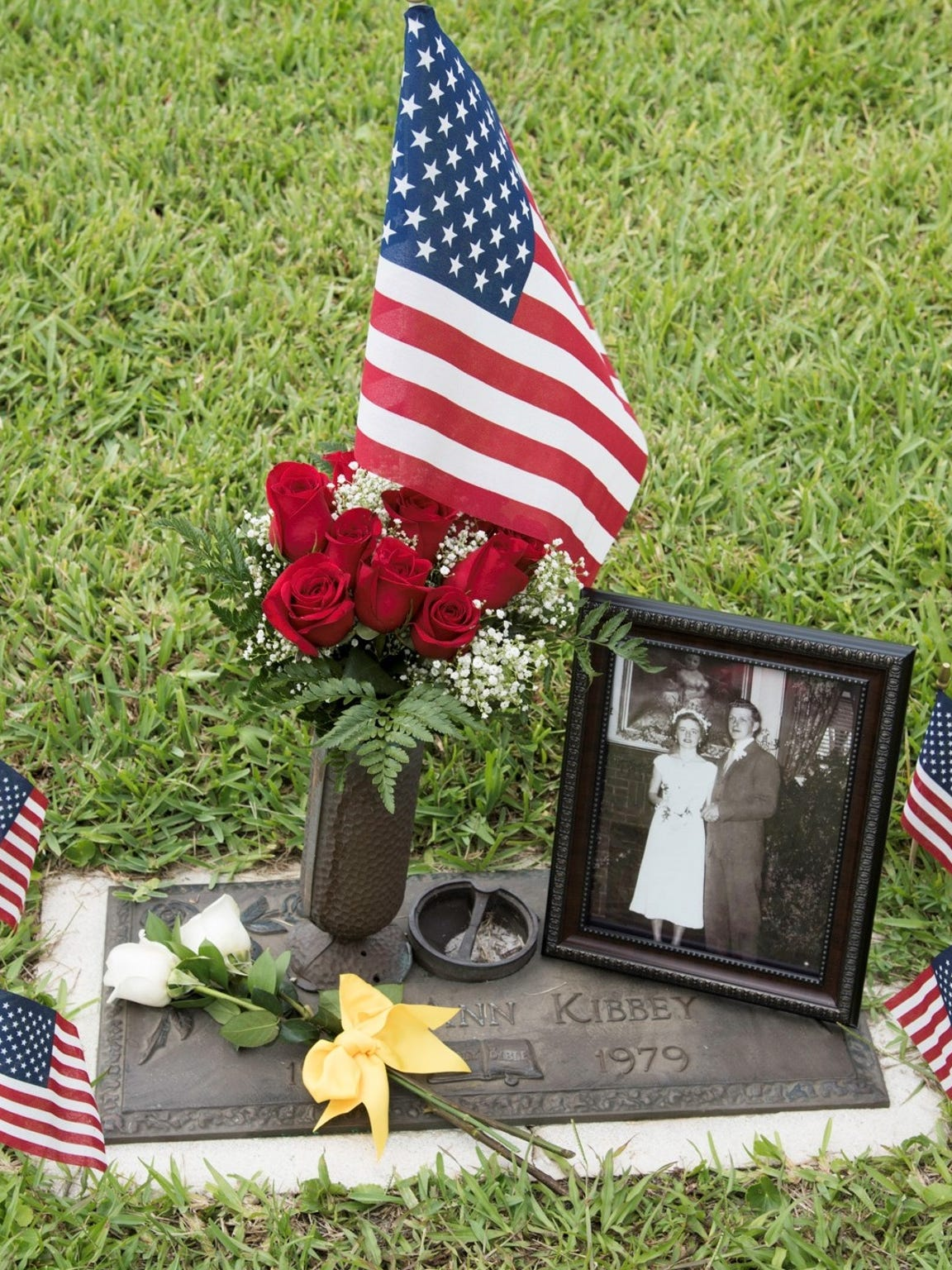 Mary Ann Kibbey's family decorated her gravesite in August at Florida Memorial Gardens in Rockledge.