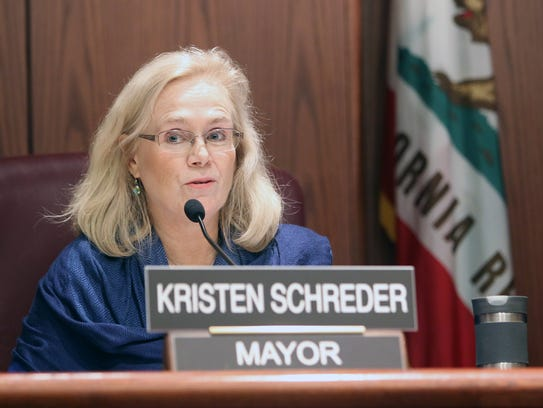 Mayor Kristen Schreder.