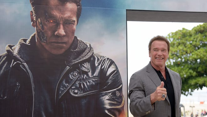 Arnold Schwarzenegger attends the photocall for Paramount Pictures 'Terminator Genisys' at the Copacabana Palace Hotel on June 1, 2015 in Rio de Janeiro, Brazil.