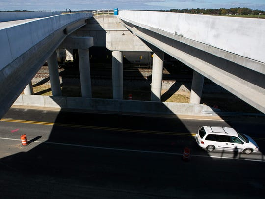 The West Dover Connector overpass at New Burton Road in Dover.