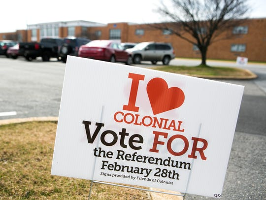 Voters arrive at William Penn High School to vote on