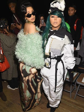 Cardi B was all over New York Fashion Week in February