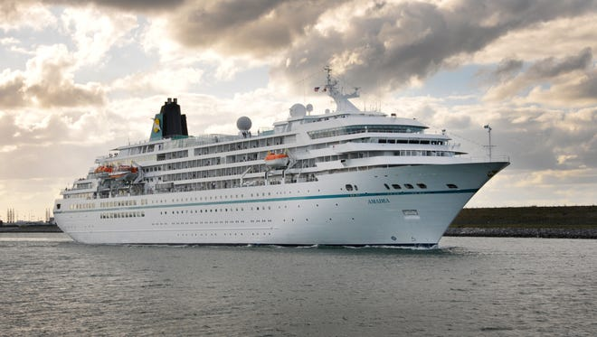 The cruise ship Amadea, operated by the German cruise company Phoenix Reisen leaves Port Canaveral Thursday evening. The ship is one of 10 port-of-call ships that will be in port during a 12-day period.