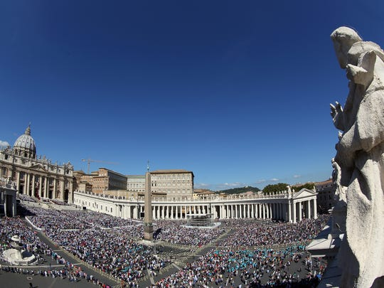 St. Peter's Square in Vatican City draws thousands