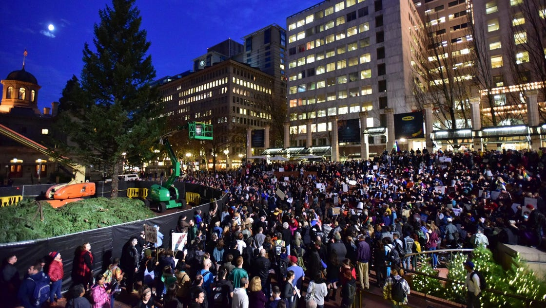 story news nation anti trump protesters pepper sprayed demonstrations erupt across