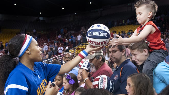 The Harlem Globetrotters will perform at 7:30 p.m. Jan. 7 at the Pan American Center, in Las Cruces. Tickets are $27-$89 plus fees and are available for purchase through Ticketmaster outlets, www.ticketmaster.com and 800-745-3000.