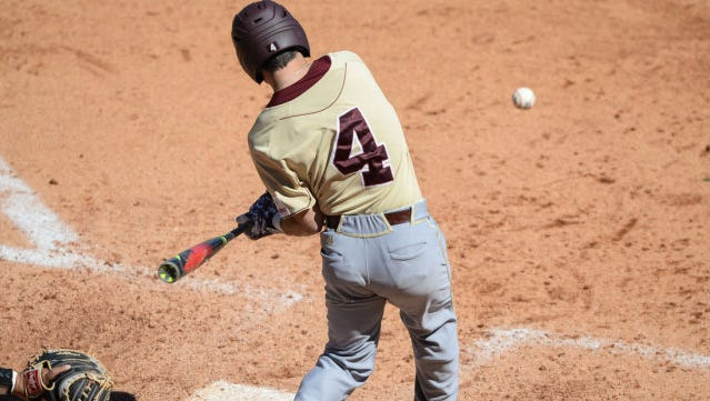 ULM's Cade Stone homered on the first pitch Saturday.