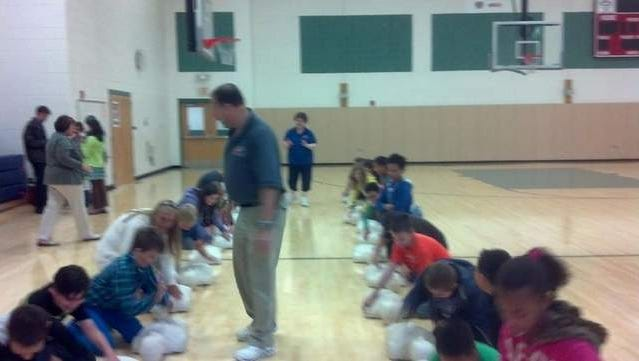 CPR Training at a local school