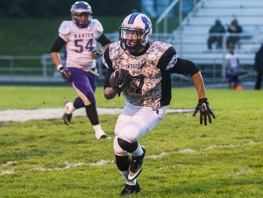 Central defeated Marion 38-33 at Central Friday, Sept.