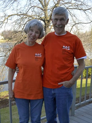 De Pere residents Peach and Tom Robinson are marking the 20th anniversary of Walk MS: De Pere, which they founded. Peach has lived with MS for 40 years.
