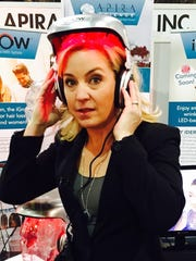 Columnist Jennifer Jolly wears the iGrow hair therapy