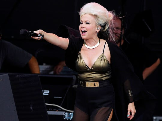 "Berlin featuring Terri Nunn performed at last year's Summerfest ""Throwback Thursday."""