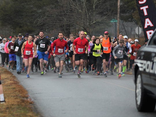 Approximately 200 runners participated in the 19th annual Valentine 5K last February.