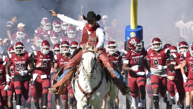 New Mexico State could end up in the three year old Arizona Bowl if the Aggies beat South Alabama on Saturday.