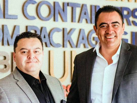 Jose Ochoa, left, and Luis Galvan, owners of Global Containers & Custom Packaging, are the SBA's Small Business Exporter of the Year for 2017.