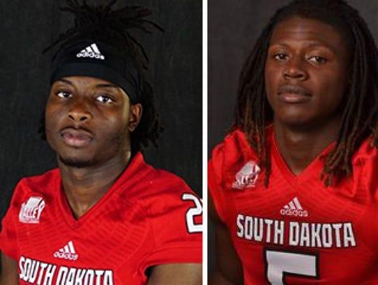 University of South Dakota students and football players