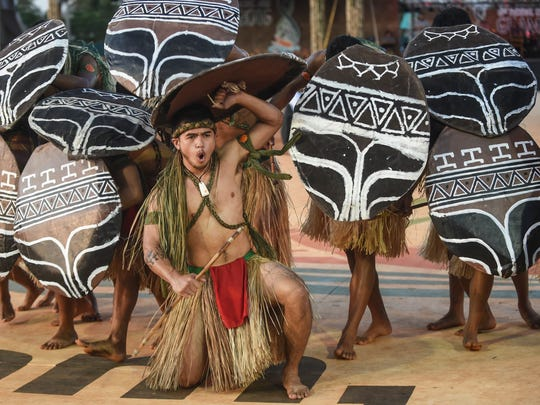 A traditional Chamorro dance performance accompanies presentations in culinary arts, fashion, music and dance, traditional crafts, and more, on day three of the Festival of Pacific Arts  on May 25, 2016.