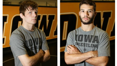 Cory Clark (left) and Thomas Gilman have combined to win 66 of their 68 matches this season. The two have become friendly rivals after years of competition.