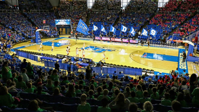 The MTSU men's basketball team has a chance to win its first C-USA attendance crowd this season, but will need help from its fans during its last five home games.