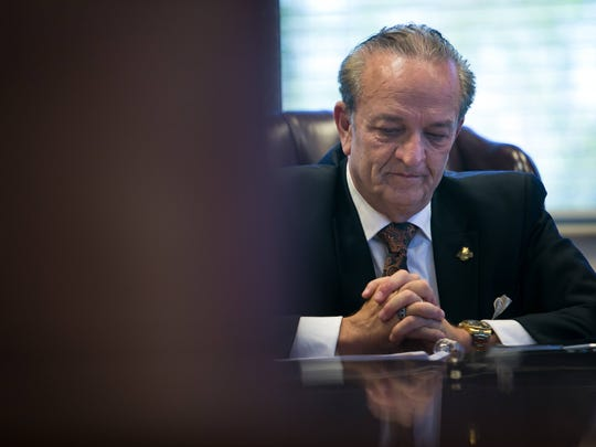 New Castle County Executive, Tom Gordon, at his office in New Castle.