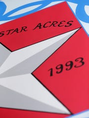 A close-up of the Morning Star Acres barn quilt.