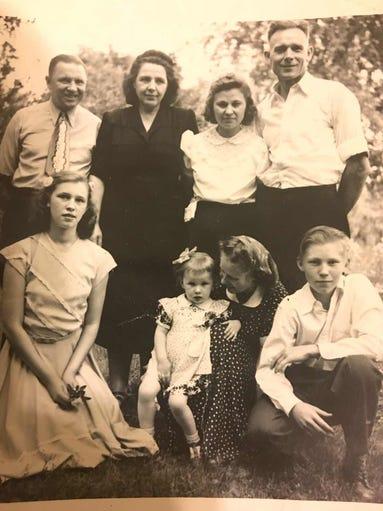 The Ramonaitis and Viltrakis Families circa 1951. Ann