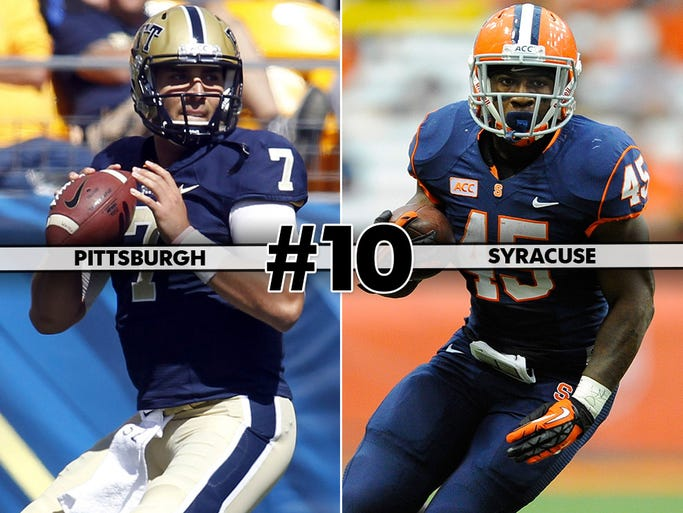 Pittsburgh (5-5, 2-4) at Syracuse (5-5, 3-3), 12:30 p.m. ET, ESPN3: The ACC's two newcomers square off with bowl eligibility on the line.