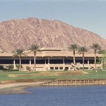 The clubhouse at the private courses at PGA West in La Quinta with the No. 18, Nicklaus Tournament Course in the foreground. That course will be added to the rotation of the CareerBuilder Challenge in partnership with the Clinton Foundation in January.