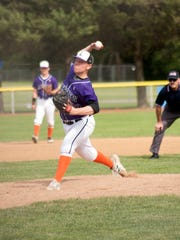 Lakeview's Taylor Perrett, pitches Tuesday evening