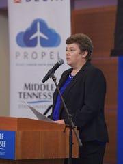 MTSU aerospace department chair Wendy Beckman tells